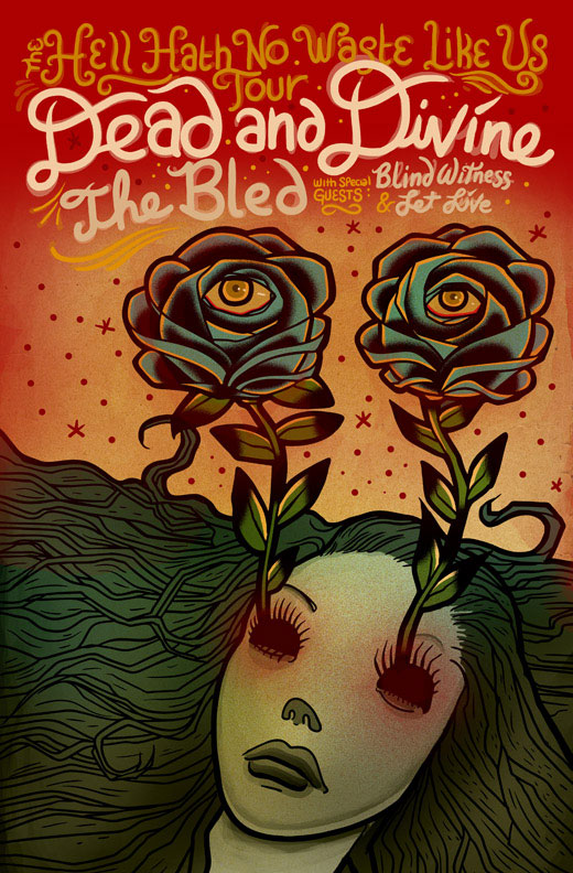 Dead and Divine, The Bled, Tour Poster
