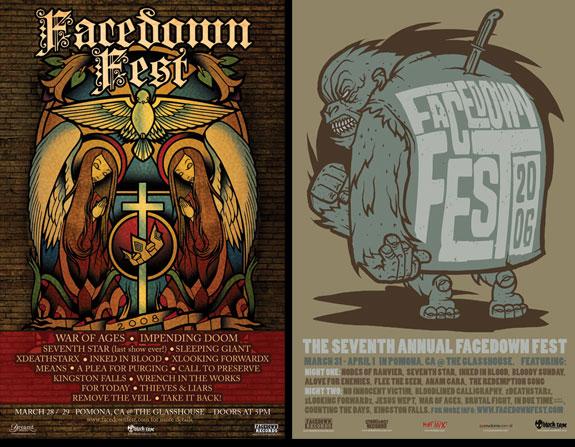 Facedown Fest, poster