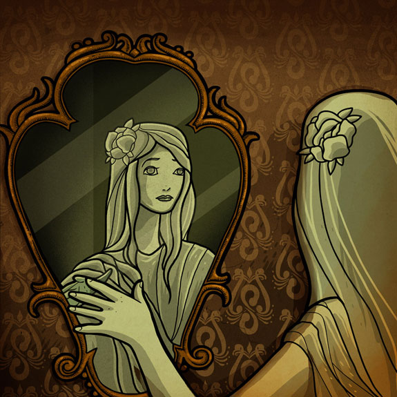Mercy Screams, Broken Mirror, cover art