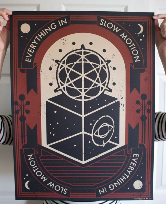 Everything In Slow Motion, Red, Vinyl, Screen print